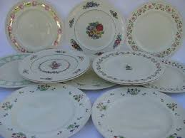 Wedgwood China Patterns Simple Lot 48 Antique English China Dinner Plates Early 48s Wedgwood