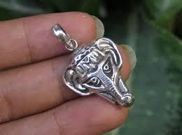 sterling silver elephant head pendant ssp 166 jpg