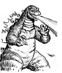 Small Picture Godzilla Fire Breath Coloring Pages Color Luna