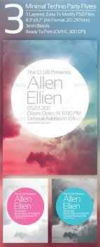 best images about flyer designs short films 3 minimal techno party flyers