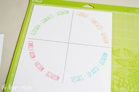 Draw Cut Chore Chart With Curved Text In Cricut Design