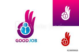 Good Job Template Good Job Logo Template Design Vector Emblem Design Concept