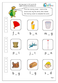 The list has words that start with the letters in alphabetical order so you can review the consonant and short vowels as you teach the alphabet. More Cvc Words And Activities Urbrainy Com