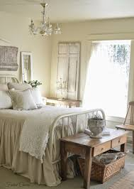 Shabby Chic Cream Bedroom Furniture Farmhouse Bedroom Salvaged Architectural Pieces And Mismatched