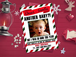 Christmas Birth Announcement Ideas Cute Christmas Baby Announcements Baby Announcement