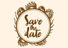 Save The Date Images Free Free Hand Drawn Protea Flower Save The Date Vector