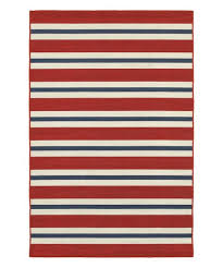 love this product red blue stripe indoor outdoor rug