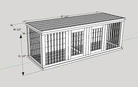 own wooden double dog kennel size large