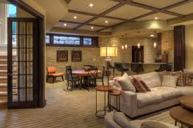 Home Interiors:Small Basement Family Room Ideas Cozy Family Room On  Basement Remodel For Clever