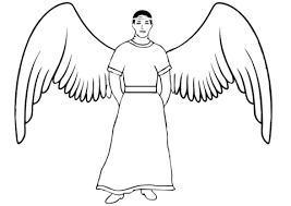 Small Picture Winged Angel coloring page Free Printable Coloring Pages