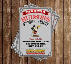 mickey mouse party invitation classic mickey mouse birthday party invitation