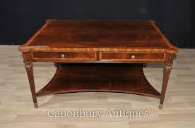 regency coffee table flame mahogany