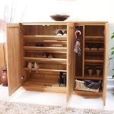 hall cabinets furniture. Image Is Loading Mobel-solid-oak-extra-large-shoe-cupboard-hallway- Hall Cabinets Furniture I
