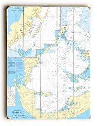 Grassy Bay And Great Sound Bermuda Nautical Chart Sign