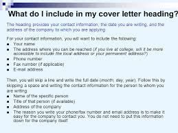 Cover letter heading in email   Online Writing Lab