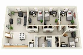 Small  Bedroom Apartment Floor Plans Of Modern Nice Floor Plans - Small apartment floor plans 3d