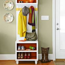 Coat Rack With Seat Enchanting Extraordinary Shoe Rack And Coat Hanger Narrow Bench With Storage