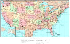 political road map of usa