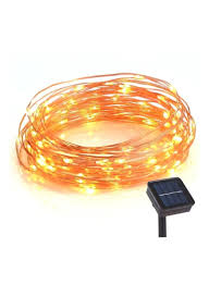 Solar Led Copper Wire Lights Shop Toplus 100 Led Solar Powered Waterproof Copper Wire