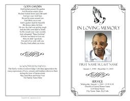 Free Funeral Program Template Word Hp Service Memorial Download