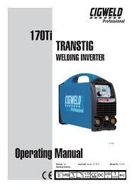 Cigweld 170ti Transtig Operating Manual_ 0 5279 Victor