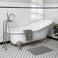 ... Bathtubs Idea, Clawfoot Tub Clawfoot Tub Home Depot Colwyn Cast Iron  Slipper Clawfoot Tub: ...