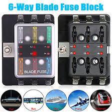 fuse block ebay 100 amp fuse box fuse box 6 way universal car boat bus 12v automotive holder blade wiring block