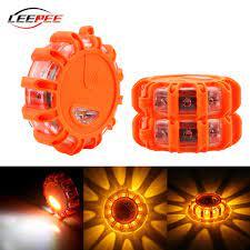 Acil durum lambaları araba yanıp sönen LED Strobe ışıkları barikat uyarı  ampul işaretleri flaşör Motor oto motosiklet aksesuarları dış Sinyal Lambası