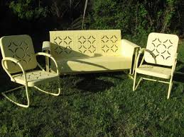 retro metal outdoor furniture. Exellent Furniture Outdoor  Old Metal Chairs Chair Glides Gliders  Retro Iron Garden 1950s Patio  For Furniture U
