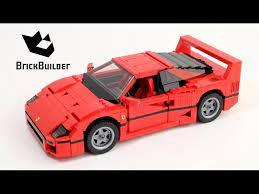 Lego Creator 10248 Ferrari F40 Lego Speed Build Youtube