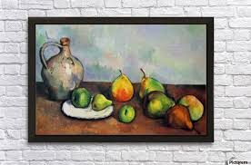 still life jar and fruit by cezanne wall decor frame