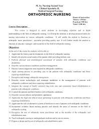 Orthopedic Nurse Sample Resume Beauteous Orthopedic Nursing
