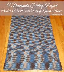 how to make a felted wool rug explore felting crochet with this beginner s project