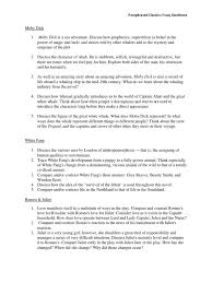 essay questions docx moby dick characters in romeo and juliet