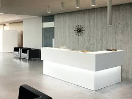 ice white corner reception desk counter accent lighting contemporary office furniture modern uk