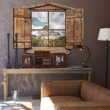 3d Wandtattoo Holzfenster Burg Karlstein Optische Täuschung