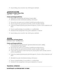 Sample Resume For Cruise Ship Waiter