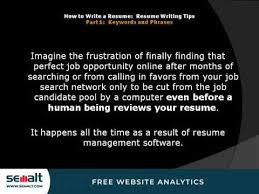 Tips On How To Write A Resume Custom How To Write A Resume Resume Writing Tips Part 48 Keywords And