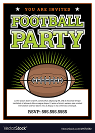 Soccer Party Invitation Template American Football Party Invitation Template