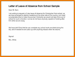 Absence Note For School Sample Absent Note For School Format