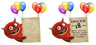 18 Geburtstag Sprüche Geburtstags Alarm