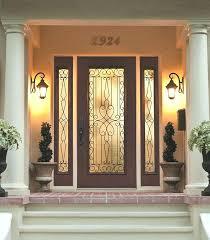 wrought iron door glass outside view for front modern metal and doors designs wood front doors with glass wooden door