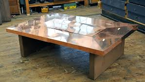extraordinary copper coffee table decor of copper top coffee table custom furniture a woodworkers photo journal