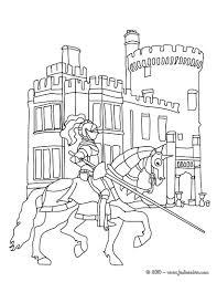 Coloriages Chevalier Avec Son P E Sur Son Cheval Fr Hellokids Com