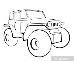 monster truck cartoon 4x4 vehicle