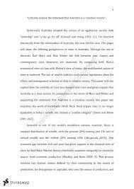 Australia Essay Essay Is Australia A Classless Society Soca1010