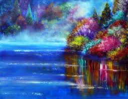 attractions cool art love lakes scenery places stunning lovely plants trees paint draw forests colors traditional