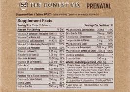 Rda Chart For Vitamins
