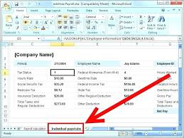 Calculate Payroll Taxes Free Excel Payroll Formulas Salary Sheet Excel Template Excel Payroll