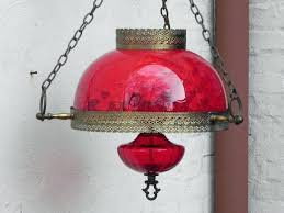 red lamp oil large cranberry red glass hanging parlor lamp oil lamp style red paraffin lamp